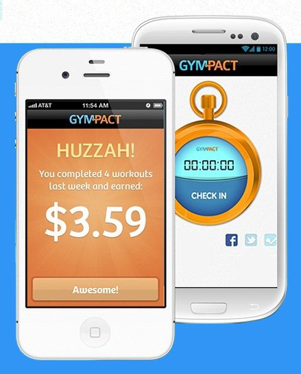 GymPact App Erfahrungen mit der iPhone iOS Android Fitness-App. Geld verdienen mit dem Training. Motivation.