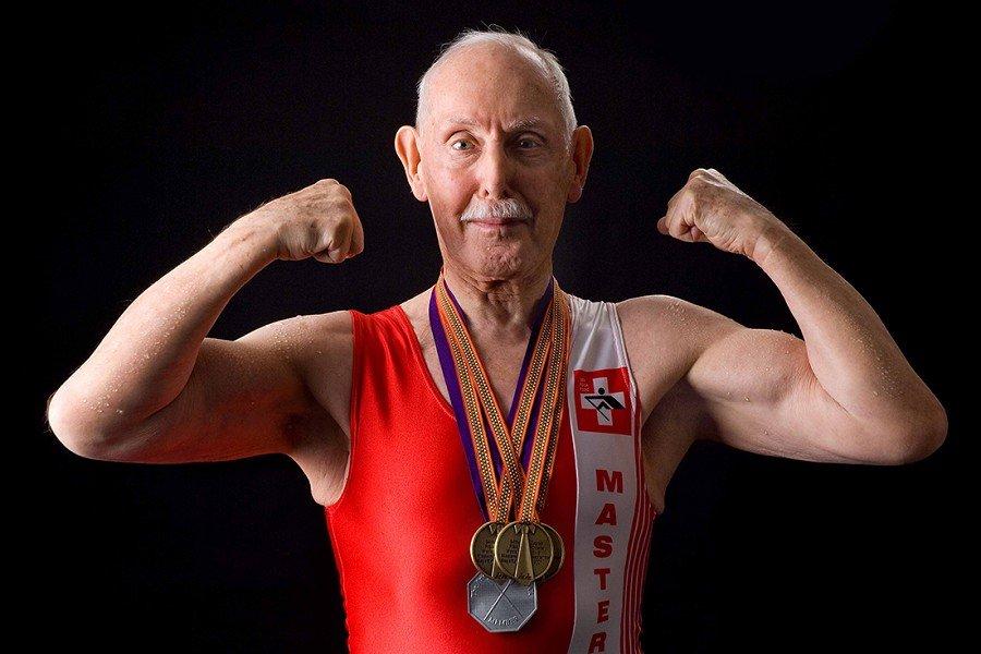 Muskelaufbau im Alter, Charles Eugster