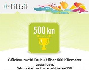 Fitbit One, Aktivitätstracker, Abzeichen