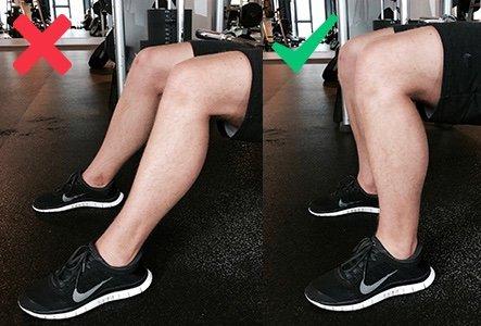 Hip Thrusts Füße