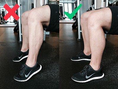 Hip Thrust Fußstellung und Waden