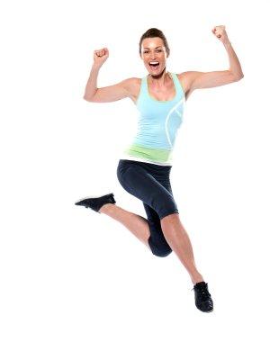 Unbändige Motivation zum Laufen, Joggen, Sport, Fitness