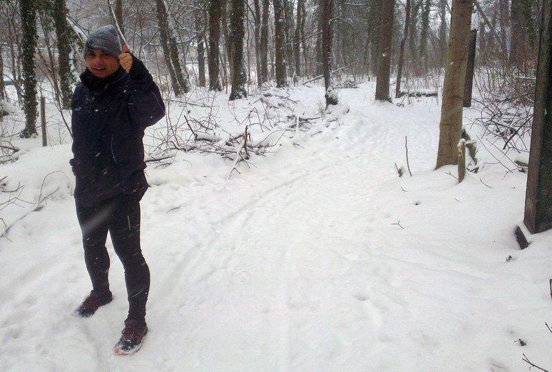Sammy Zimmermanns beim Winterlauf