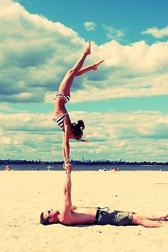 Körperspannung trainieren.