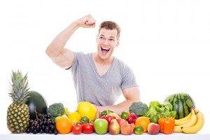Gemüse und Obst zum abnehmen