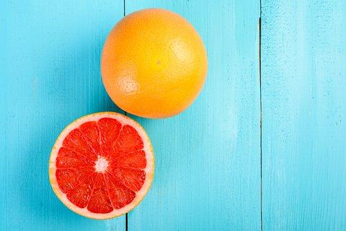 Frische Grapefruit sekundäre Pflanzenstoffe