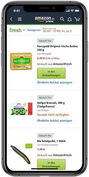 Amazon Fresh App