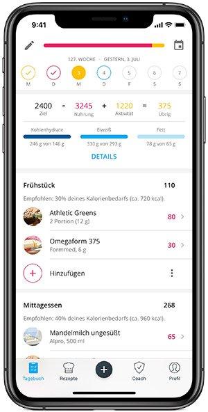 Ernährungs App Yazio