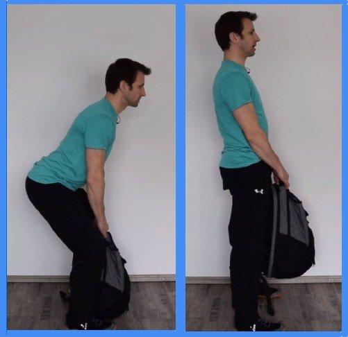 Übungen gegen Rückenschmerzen - Lastheben