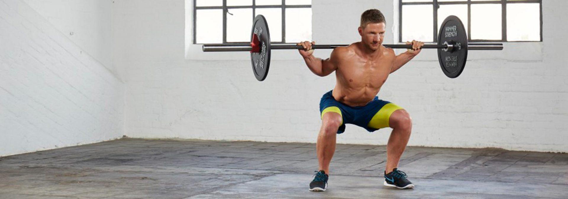Muskelaufbau Übungen Kniebeuge