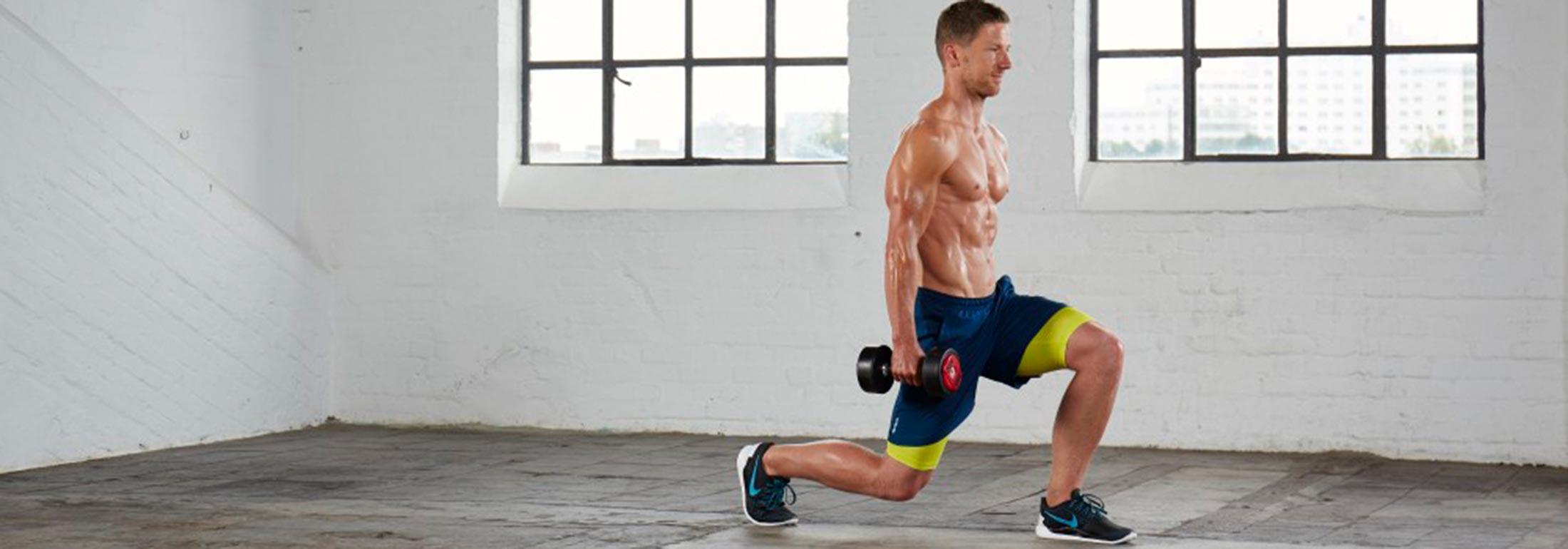 Muskelaufbau Übungen Ausfallschritte